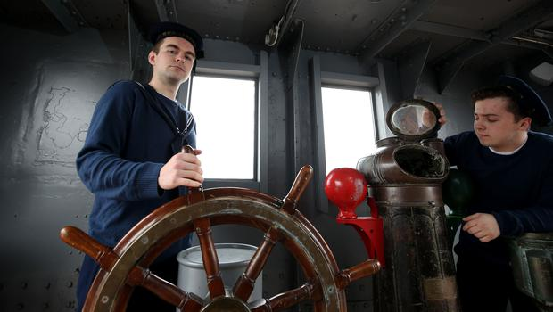 In the wheelhouse: Vince Vyce (who plays Charles Shepherd) and Jonny Brown (who plays Henry Johnston)