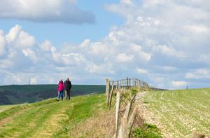 THE GREAT OUTDOORS: Walking helps you to stay fit and healthy