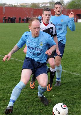 Action from Ards Rangers v Crumlin Star