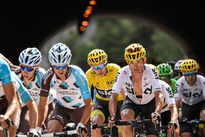 Yellow fever: Chris Froome has a 23-second advantage over Romain Bardet and is expected to widen the gap this weekend. Photo: Getty Images