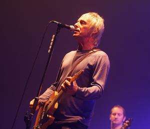 11.11.08. David Fitzgerald. Paul Weller playing in the Odyssey Arena Belfast last night.