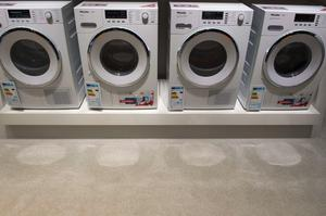 Washing machines are on display at the booth of German domestic and commercial equipment manufacturer Miele ahead of the opening of the 55th IFA (Internationale Funkausstellung), on September 2, 2015 in Berlin. IFA, one of the world's biggest consumer electronics shows, opens for the media before the public is invited from September 4 to 9. AFP PHOTO / JOHN MACDOUGALLJOHN MACDOUGALL/AFP/Getty Images