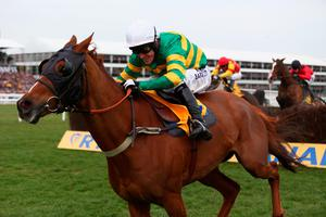 CHELTENHAM, ENGLAND - MARCH 12:  Tony McCoy on Uxizandre con his way to victory in the Ryanair Steeplechase during day three of the Cheltenham Festival at Cheltenham Racecourse on March 12, 2015 in Cheltenham, England.  (Photo by Michael Steele/Getty Images)