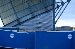 Picture - Kevin Scott   Tuesday 31st March 2015 - Windsor Park Damage  Pictured is the severely damaged West Stand at Windsor Park in South Belfast, the damaged was discovered earlier today  Picture Credit - Kevin Scott