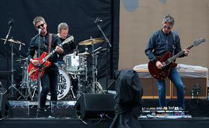 Support act Noel Gallagher's High Flying Birds performing on stage at Croke Park in Dublin. PRESS ASSOCIATION Photo. Picture date: Saturday July 22, 2017. Photo credit should read: Brian Lawless/PA Wire
