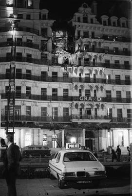 File photo dated 12/10/84 of the upper floors of the Grand Hotel Brighton, severely damaged  in the aftermath of an IRA bomb, which was planted during Tory Party conference week. Baroness Thatcher died this morning following a stroke, her spokesman Lord Bell said. PRESS ASSOCIATION Photo. Issue date: Monday April 8, 2013. See PA story DEATH Thatcher. Photo credit should read: PA/PA Wire