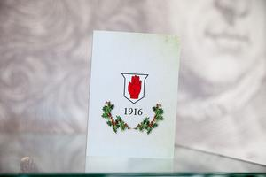 One of the Christmas cards marks the centenary of the Battle of the Somme