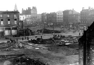 WORLD WAR II: BELFAST AIR RAIDS. BRIDGE STREET. 4/5 May. Bridge Street/High Street. AR 30.