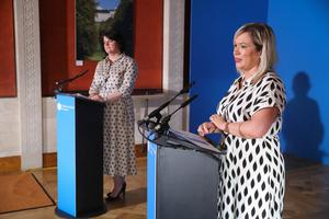 First Minister Arlene Foster and deputy First Minister Michelle O'Neill