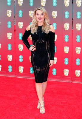 Sian Welby attending the EE British Academy Film Awards held at the Royal Albert Hall, Kensington Gore, Kensington, London.  PRESS ASSOCIATION Photo. Picture date: Sunday February 18, 2018. See PA Story SHOWBIZ Bafta. Photo credit should read: Yui Mok/PA Wire.