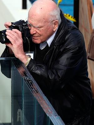 WASHINGTON, DC - JANUARY 19:  Sen. Patrick Leahy (D-VT) takes a photo on the West Front of the U.S. Capitol on January 19, 2017 in Washington, DC. Donald J. Trump will be sworn in tomorrow as the 45th president of the United States.  (Photo by Drew Angerer/Getty Images)