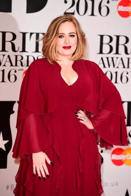 Adele arriving for the 2016 Brit Awards at the O2 Arena, London. PRESS ASSOCIATION Photo. Picture date: Wednesday February 24, 2016. See PA story SHOWBIZ Brits. Photo credit should read: Ian West/PA Wire