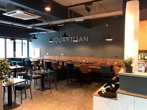 Atmospheric: the bright and roomy interior of Quartisan as Belfast's Waring Street
