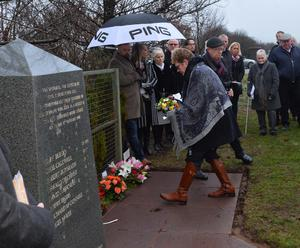 PACEMAKER BELFAST  15/01/2017 A memorial service is held for the  25th Anniversary of the Teebane bombing outside Cooktown in Co Tyrone on Sunday.  Eight Protestant workmen died in January 1992 when the IRA blew up their minibus at Teebane crossroads, on the road between Omagh and Cookstown. Another six were injured. Photo Colm Lenaghan/Pacemaker Press