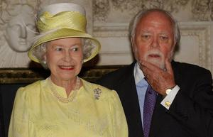 File photo dated 8/6/2004 of Queen Elizabeth II with Lord Attenborough. The  acclaimed actor/director died at lunchtime yesterday aged 90, his son Michael told the BBC. PRESS ASSOCIATION Photo. Issue date: Monday August 25, 2014. See PA story DEATH Attenborough. Photo credit should read: Stefan Rousseau/PA Wire
