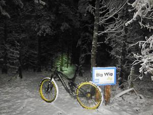 Davagh forest nighttime snow mountain bike ride. Submitted by Michael Regan. Jan 29 2015