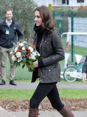 Catherine, Duchess of Cambridge visits the Robin Hood Primary School on November 29, 2017 in London, England. (Photo by Chris Jackson/Chris Jackson/Getty Images)
