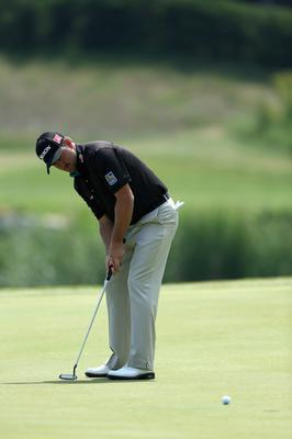 KAVARNA, BULGARIA - MAY 16:  Graeme McDowell of Northern Ireland in action on day one of the Volvo World Match Play Championship at Thracian Cliffs Golf & Beach Resort on May 16, 2013 in Kavarna, Bulgaria.  (Photo by Warren Little/Getty Images)