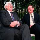 Seamus Mallon and David Trimble on their first day as deputy First Minister and First Minister respectively in 1998