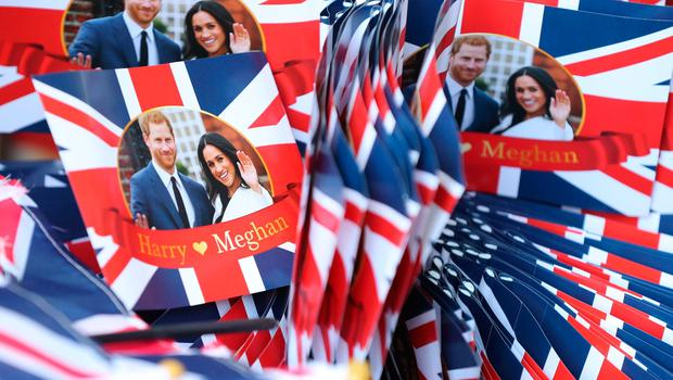 Souvenirs in Windsor ahead of the wedding of Prince Harry and Meghan Markle on Saturday. PRESS ASSOCIATION Photo. Picture date: Friday May 18, 2018. See PA story ROYAL Wedding. Photo credit should read: Gareth Fuller/PA Wire