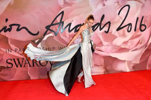 Model Gigi Hadid attends The Fashion Awards 2016 on December 5, 2016 in London, United Kingdom. (Photo by Stuart C. Wilson/Getty Images)
