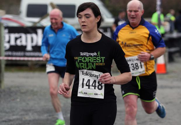 Mandatory Credit - Picture by Freddie Parkinson/Press Eye © Saturday 3rd December 2016 Belfast Telegraph Run Forest Run Loughgall. Loughgall Country Park, 11-14 Main Street, Loughgall, Armagh.  Andrea Maguire 10K Enniskillen