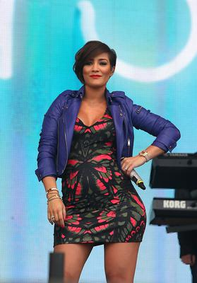 Frankie Sandford of The Saturdays performs at Radio One's Big Weekend, at Ebrington Square in Londonderry. PRESS ASSOCIATION Photo. Picture date: Saturday May 25, 2013. Photo credit should read: Niall Carson/PA Wire