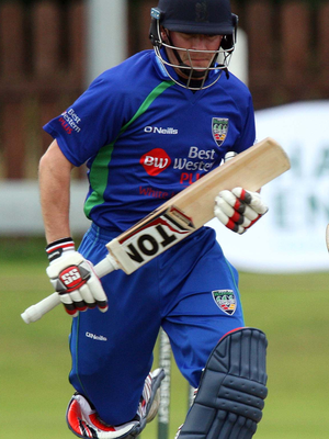 Ton-up: William Porterfield hit a century for North West Warriors