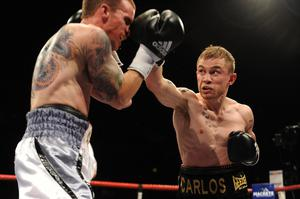 Official title fight for the vacant Commonwealth Super Bantamweight belt between Carl Frampton and Mark Quon at the Odyssey arena, Belfast. Picture Charles McQuillan/Pacemaker.10/9/11 PACEMAKER BELFAST.