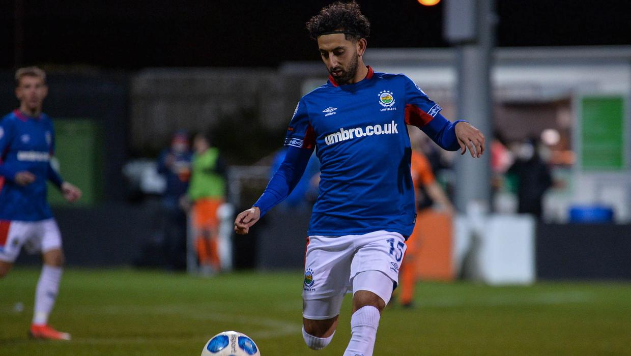 Nasseri shines as Linfield get the job done early in Co Antrim Shield -  BelfastTelegraph.co.uk