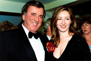 Sir Terry Wogan and his daughter Katherine at the Savoy Hotel in London, in 2001