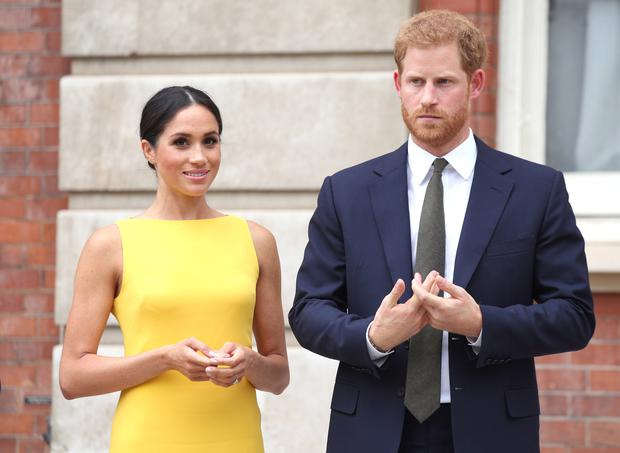 Meghan and Harry gave up their lives as working royals last year (Yui Mok/PA)