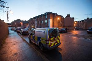 Police and emergency services at the scene on London Road in East Belfast. Picture Colm O'Reilly Sunday Life