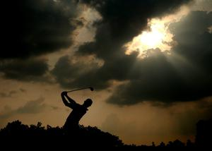 Rory McIlroy of Northern Ireland hits his tee shot on the 12th hole during the final round of the 96th PGA Championship at Valhalla Golf Club on August 10, 2014 in Louisville, Kentucky.  (Photo by Andrew Redington/Getty Images)