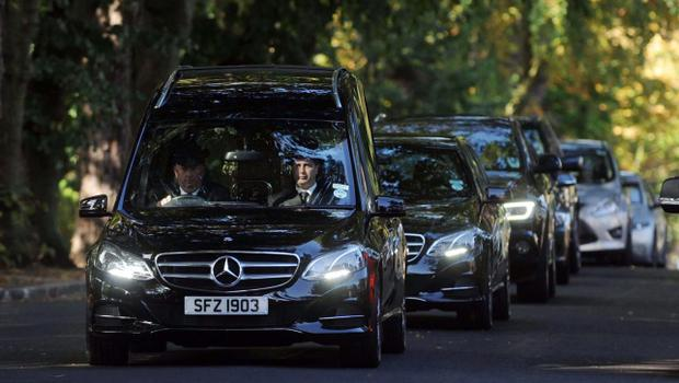 The funeral of procession of former DUP leader Ian Paisley. Pic Pacemaker