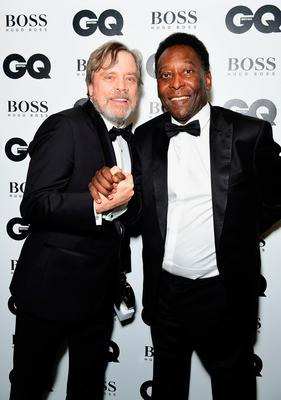 Mark Hammill (left) with Pele during the GQ Men of the Year Awards 2017 held at the Tate Modern, London. PRESS ASSOCIATION Photo. Picture date: Tueday September 5th, 2017. Photo credit should read: Ian West/PA Wire