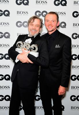 Mark Hammill (left) with his Icon award poses with Simon Pegg during the GQ Men of the Year Awards 2017 held at the Tate Modern, London. PRESS ASSOCIATION Photo. Picture date: Tueday September 5th, 2017. Photo credit should read: Ian West/PA Wire