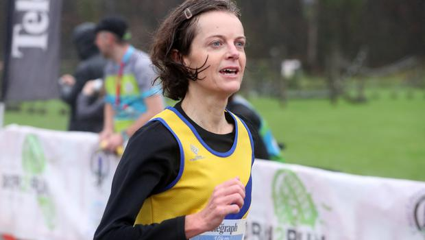 Press Eye - Belfast Telegraph - Run Forest Run Series - Loughgall Forest Park - 1st December 2018 Photograph by Declan Roughan  Ladies 10k, 2nd place Catherine Roberts.