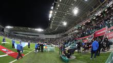 All change: Paul Givan has hailed the new-look Windsor Park. Photo: William Cherry/Press Eye