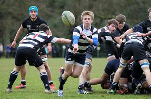 Wallace HS Jonny Stewart against Campbell College during Saturday's Danske Bank quarter final at Fox's Field