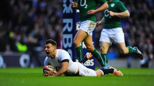 LONDON, ENGLAND - FEBRUARY 22:  England scrum half Danny Care scores the first England try during the RBS Six Nations match between England and Ireland at Twickenham Stadium on February 22, 2014 in London, England.  (Photo by Stu Forster/Getty Images)