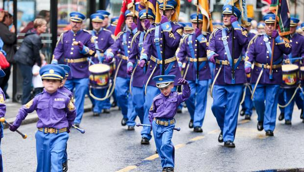 Picture - Kevin Scott / Presseye  Belfast - Northern Ireland - Monday 13th July 2015 -  Belfast - Orangefest  Pictured is the Orange order parade as it makes its way through the City Centre of Belfast, Northern Ireland.    Picture by Kevin Scott  / Presseye.