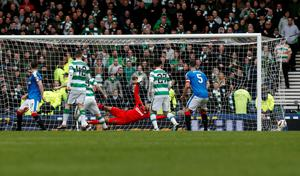 Celtic's Tom Rogic (not pictured) scores his sides second goal during the William Hill Scottish Cup semi-final match at Hampden Park, Glasgow. PRESS ASSOCIATION Photo. Picture date: Sunday April 17, 2016. See PA story SOCCER Rangers. Photo credit should read: Danny Lawson/PA Wire. EDITORIAL USE ONLY