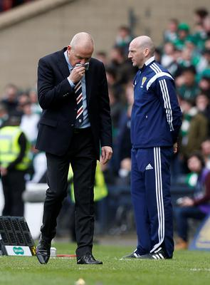 Rangers' manager Mark Warburton during the William Hill Scottish Cup semi-final match at Hampden Park, Glasgow. PRESS ASSOCIATION Photo. Picture date: Sunday April 17, 2016. See PA story SOCCER Rangers. Photo credit should read: Danny Lawson/PA Wire. EDITORIAL USE ONLY