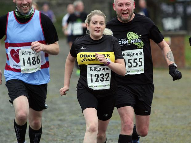 Mandatory Credit - Picture by Freddie Parkinson/Press Eye © Saturday 3rd December 2016 Belfast Telegraph Run Forest Run Loughgall. Loughgall Country Park, 11-14 Main Street, Loughgall, Armagh.  Norma Campbell 10K Dromore
