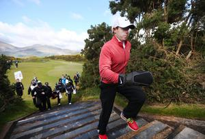 Photographer ?Matt Mackey - Presseye.com  28th May 2015  Round 1 of the 2015 Dubai Duty Free Irish Open at Royal County Down Golf Club, Newcastle, Northern Ireland.  World number one Rory McIlroy.