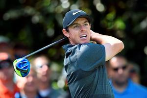 Northern Ireland's Rory McIlroy tees off during Round 1 of the 80th Masters Golf Tournament at the Augusta National Golf Club on April 7, 2016, in Augusta, Georgia.   / AFP PHOTO / Jim WatsonJIM WATSON/AFP/Getty Images