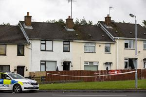 Police has cordoned a second property on Orkney Drive in Ballymena, County Antrim, just a dozen or so houses from the main property on interest, as a murder investigation is under way following the death of a man at a house. (Liam McBurney/RAZORPIX)