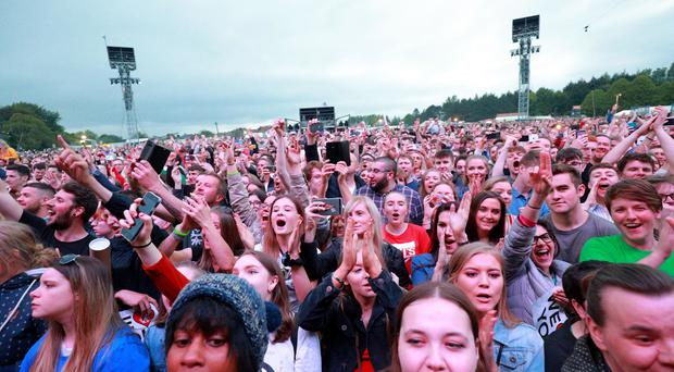 Snow Patrol perform on stage at Ward Park 3 in Bangor on May 25th 2019 (Photo by Kevin Scott for Belfast Telegraph)