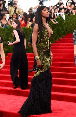 Naomi Campbell  arrives at the 2015  Metropolitan Museum of Art's Costume Institute Gala benefit in honor of the museums latest exhibit China: Through the Looking Glass  May 4, 2015 in New York.      AFP PHOTO /  TIMOTHY  A. CLARYTIMOTHY A. CLARY/AFP/Getty Images